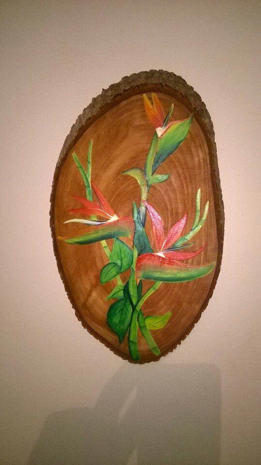 Orillo pintado en oleo