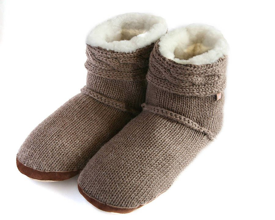 Cable Knit Slipper Boots | Cozy Couture | Pinterest | Slipper ...