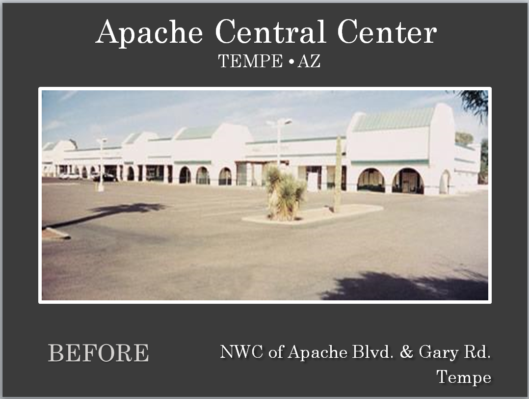 Apache Central Center in Tempe AZ before renovation by Michael A Pollack owner of Pollack Investments in Mesa, AZ. www.pollackinvestments.com for available leasing spaces on any properties