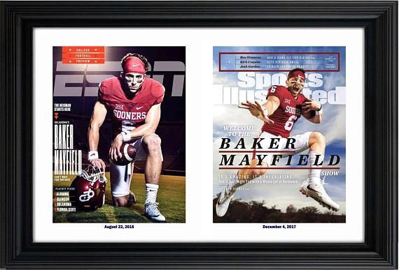 2017 Baker Mayfield Oklahoma Sooners Sports Illustrated December 4