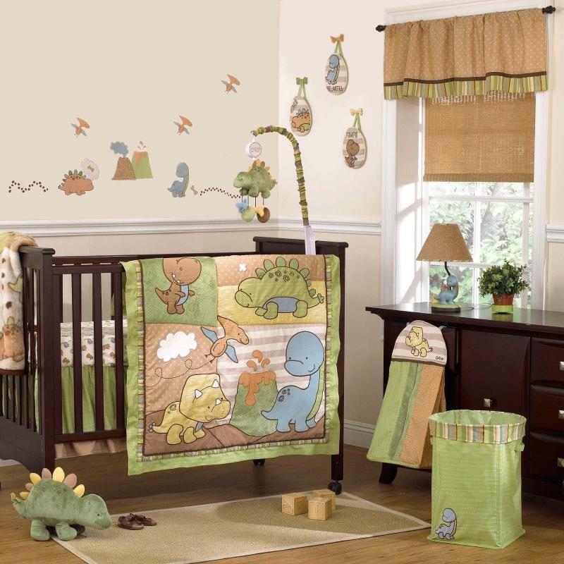 Dinomite 8 Piece Baby Crib Bedding Set By Cocalo 169 95 Baby Crib Sets Dinosaur Baby Room