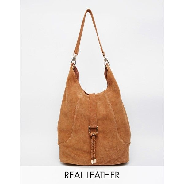 Faith Low Slung Hobo Bag in Tan (£59) ❤ liked on Polyvore ...