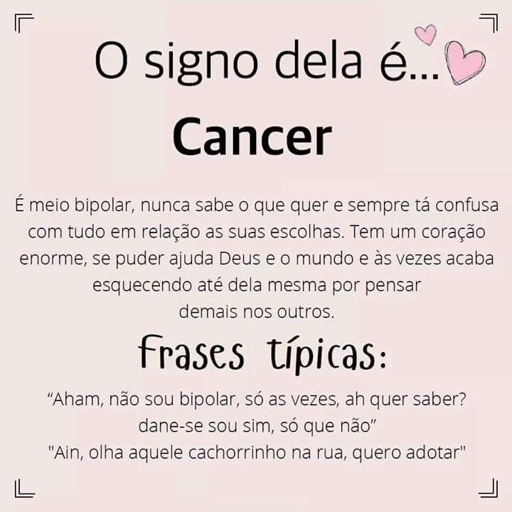 As Características E Frases Típicas De Cada Signo Uma Canceriana