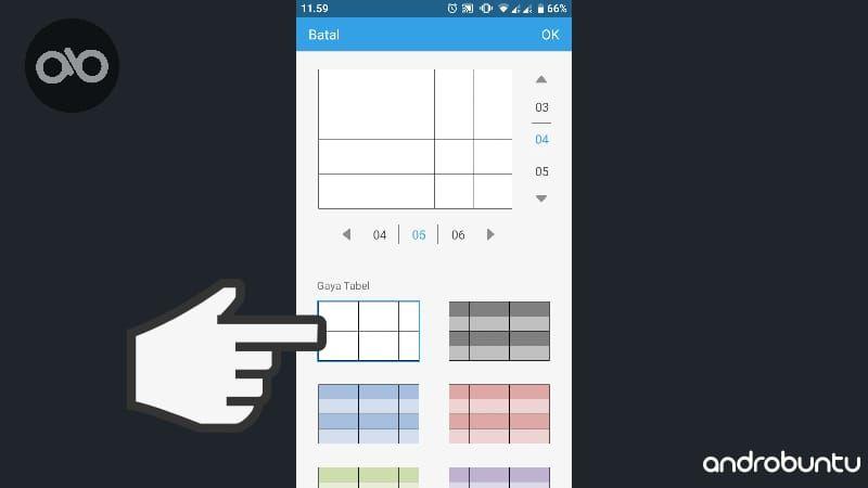 Cara Membuat Tabel Di Wps Ofice Android Androbuntu Android