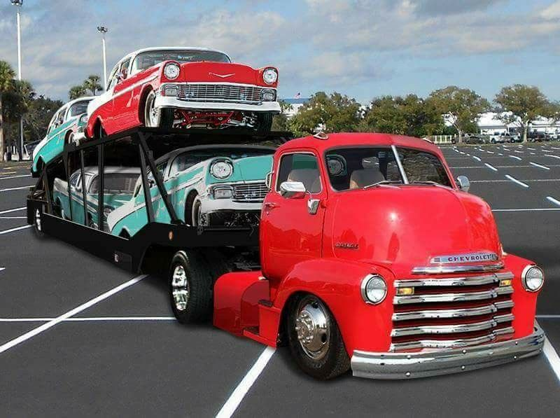 Pin By Carter Johnson On 50 S Chevys 53 Chevy Truck Car Hauler Trailer Chevy Trucks