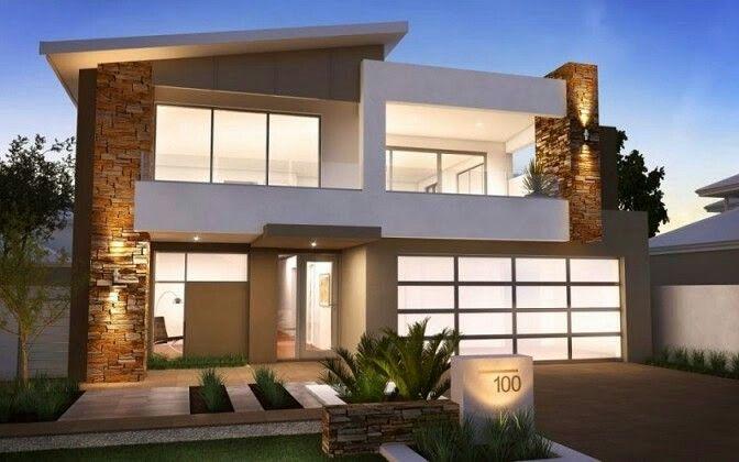 Modern Two Storey House Exterior Design Valoblogicom