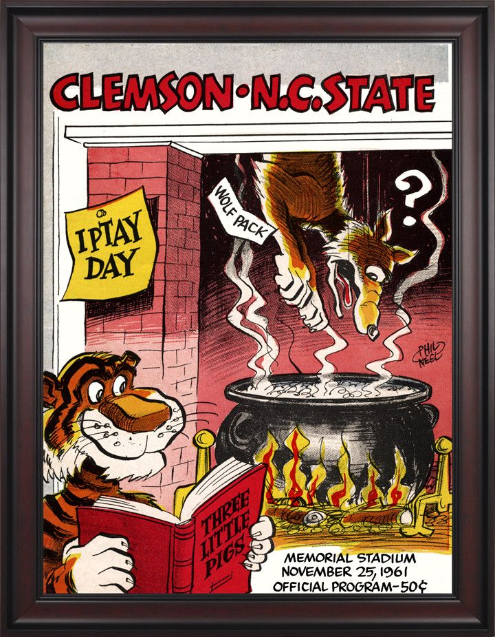 1961 Clemson Tigers Vs North Carolina State Wolfpack 36 X 48