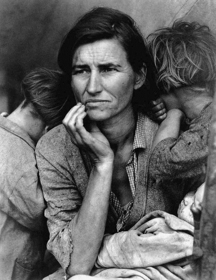 Migrant mother dorothea lange famous black and white photographers the masters