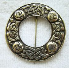 Vintage Iona silver Celtic circle brooch by Alexander Ritchie