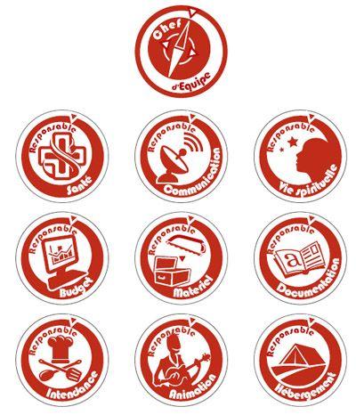 Insignes de responsabilités de la branche Pionniers-Caravelles des Scouts  et Guides de France ba732bf13ec