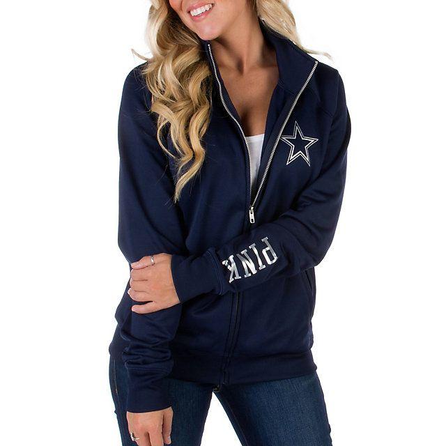 f8540c26b8e Dallas Cowboys PINK Track Jacket   Fashionable Fandom   Dallas ...