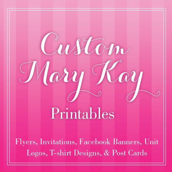 Custom Mary Kay Flyer Or Print Outs Mary Kay Etsy And Printing