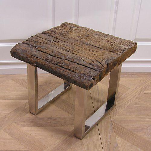 tisch beistelltisch couchtisch schwemmholz treibholz aluminium antik vintage optik schwemmholz. Black Bedroom Furniture Sets. Home Design Ideas