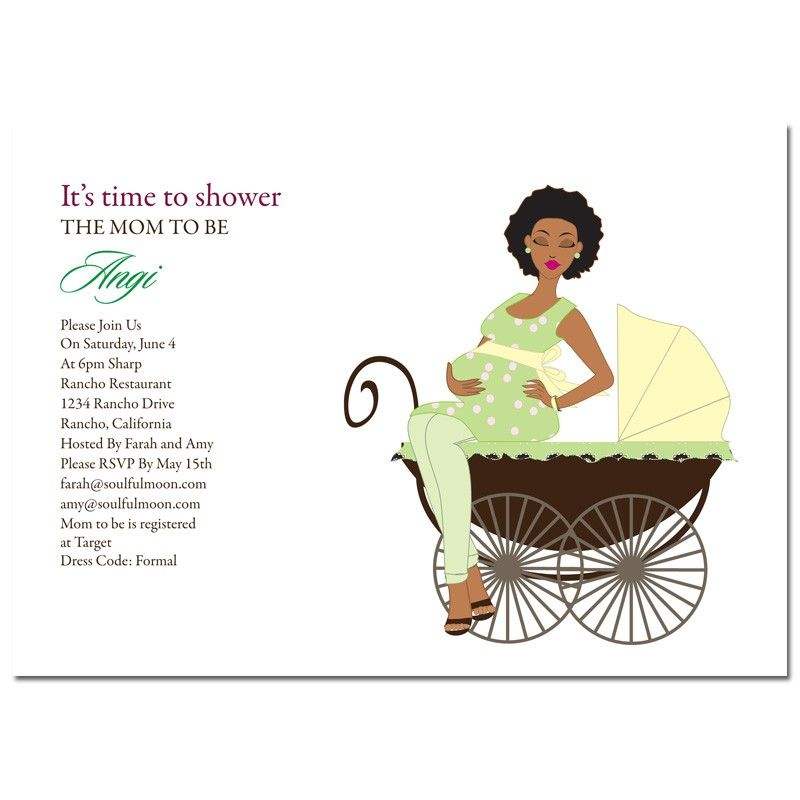 African American Baby Shower Invitations via #Soulfulmoon - Pretty ...