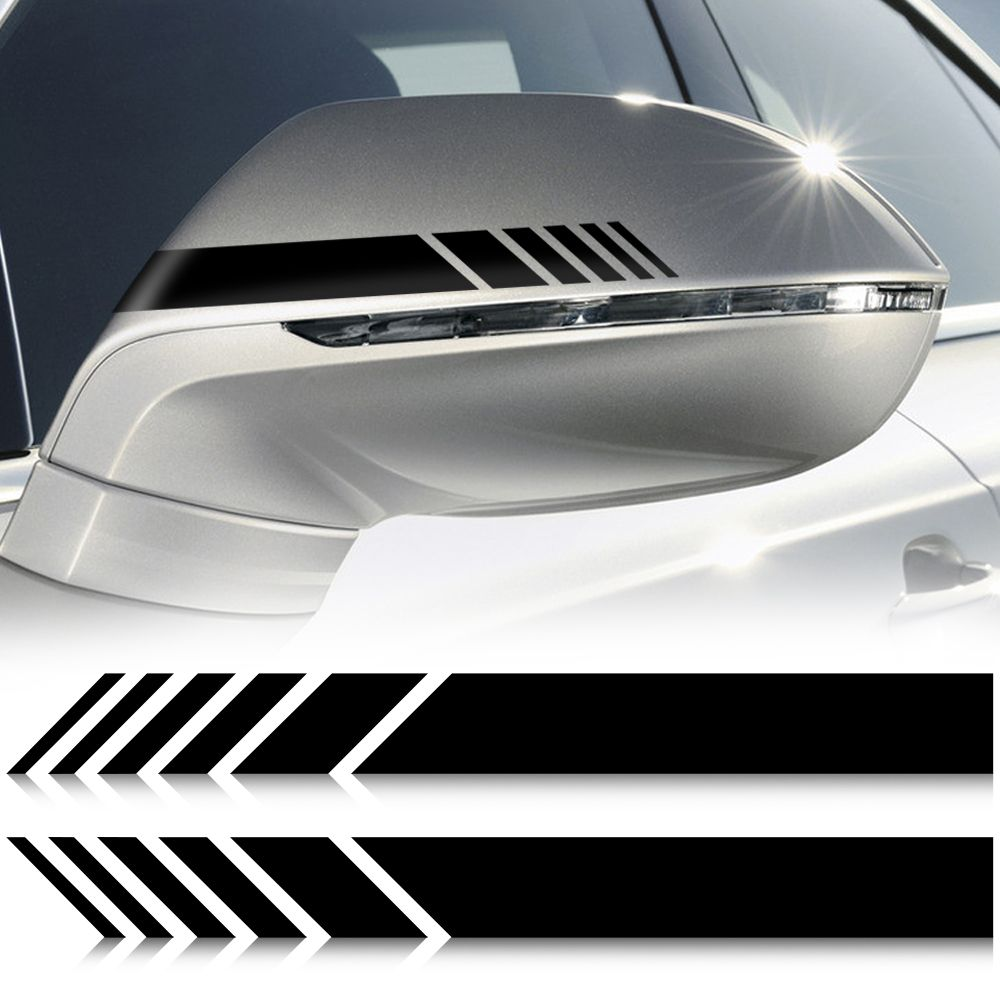 2pcs Car Styling Auto Suv Vinyl Graphic Car Sticker Rearview Mirror Side Decal Stripe Diy Car Body Decals Attention Valid Dis Car Stickers Car Diy Car [ 1000 x 1000 Pixel ]