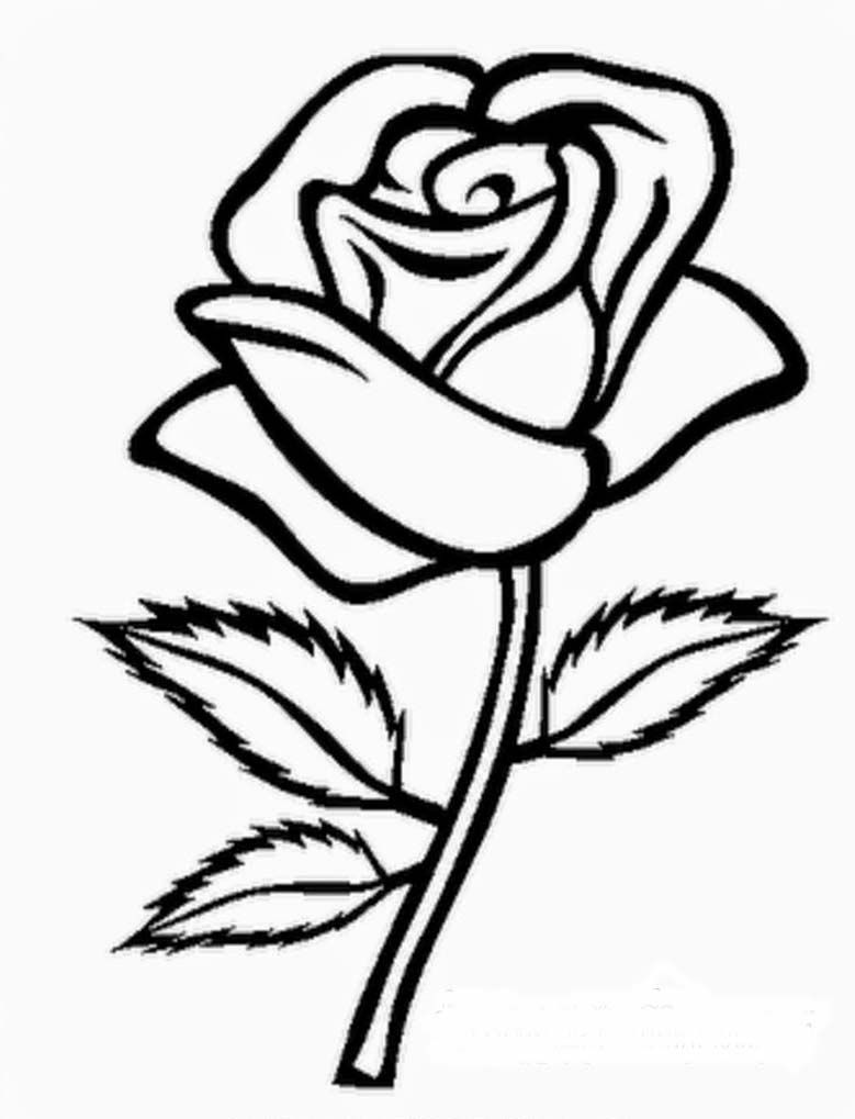 coloring sheets | Coloring pages of flowers - Rose ~ Coloring ...