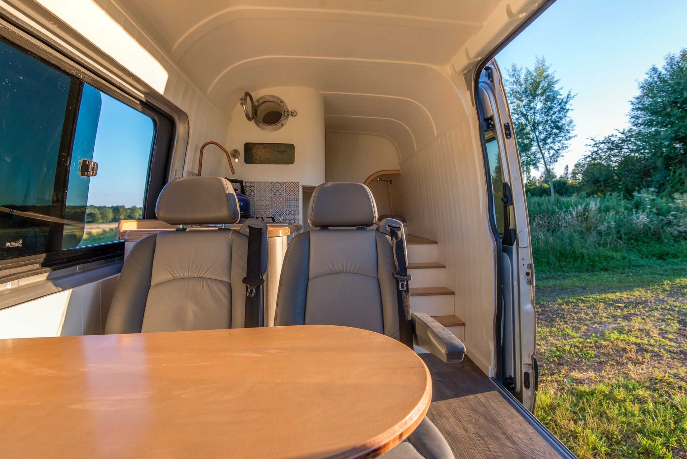 Interior Of Cool Camper Van Conversion At Thismovinghouseco