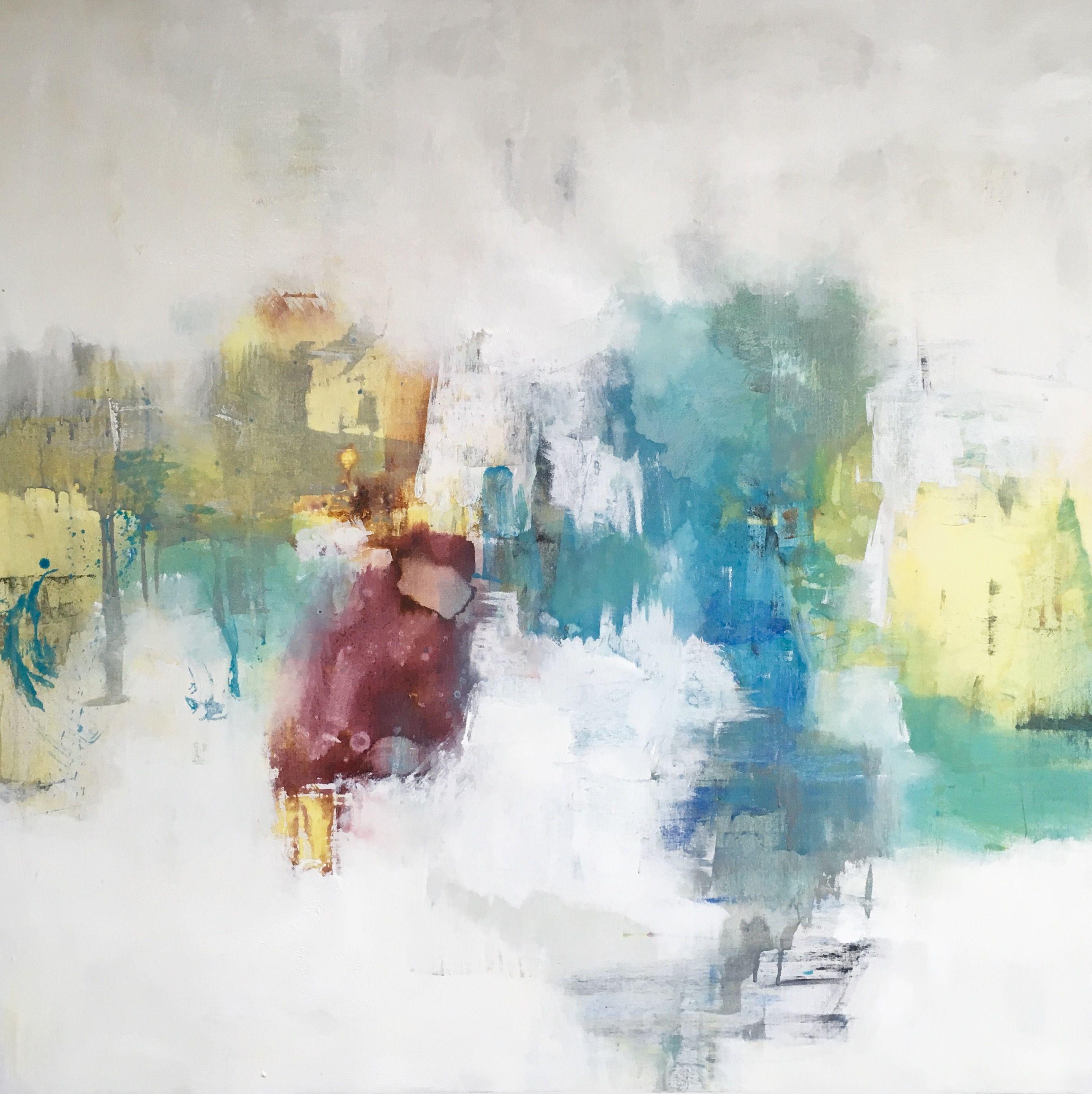 Spontaneous abstract, original 40x40\