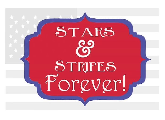 Stars and Stripes Printable for 4th of July! Would look so cute in a gold frame! Love this! - www.classyclutter.net #printable #patriotic