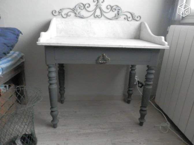 desserte coiffeuse commode vintage dessus marbre ameublement alpes maritimes. Black Bedroom Furniture Sets. Home Design Ideas