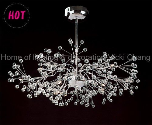 fashion crystal chandelier dia 600 h1200mm stainless steel cable