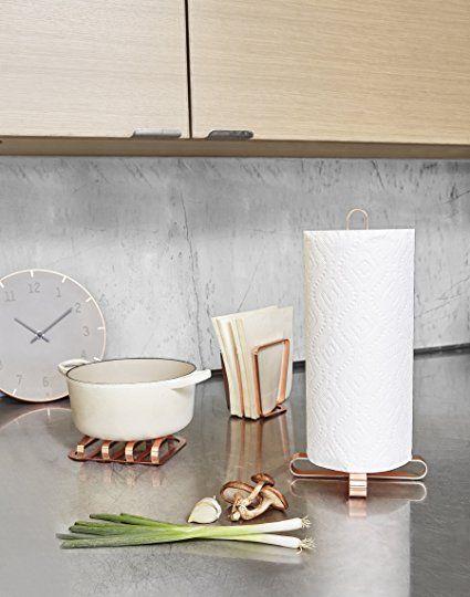 Umbra 330289-880 Pulse Design Küchenrollenhalter aus Metall, kupfer - küche mit esszimmer