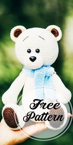 Awesome Free Amigurumi Bear Pattern Idea! Very Cute! - Free Amigurumi Pattern, Amigurumi Blog! #crochetbear