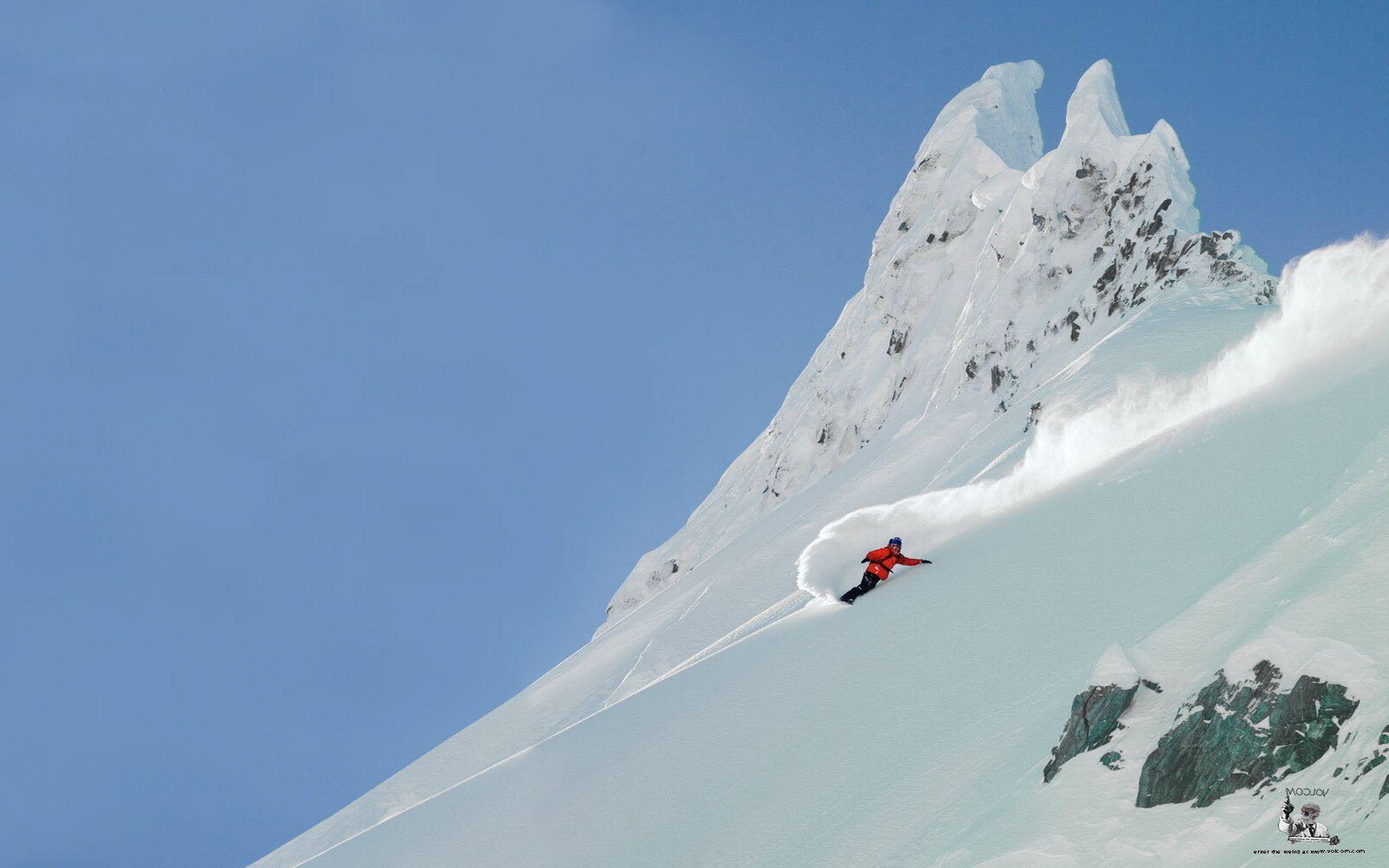 Beautiful Winter Sports Snowboard Time
