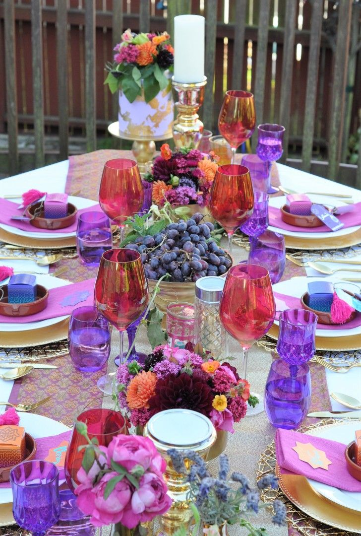 12204ba95e6c Jewel Tone Arabian Nights Bridal Shower - Outdoor bridal shower