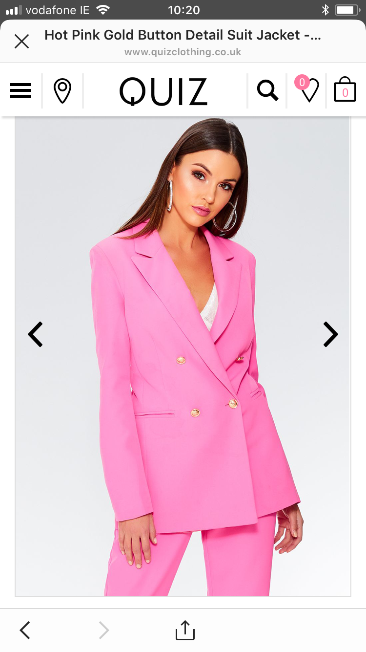Pink suit by quiz clothing also comes in blue and red wish list