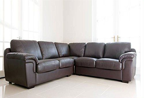 Dallas Chocolate Brown Pu Leather Large Corner Group Sofa Suite 539 Leather Corner Sofa Corner Sofa Big Corner Sofa