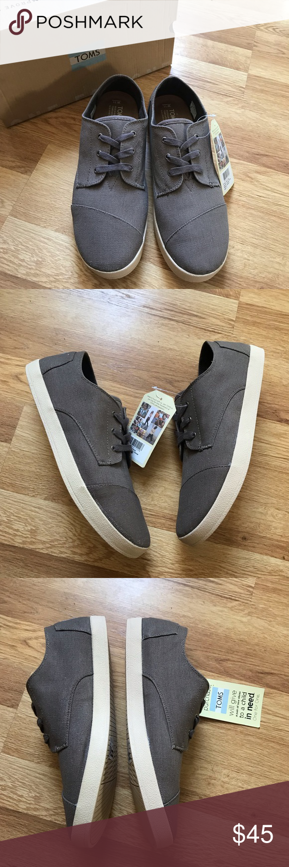 Toms Paseo Canvas Sneaker in Ash Grey