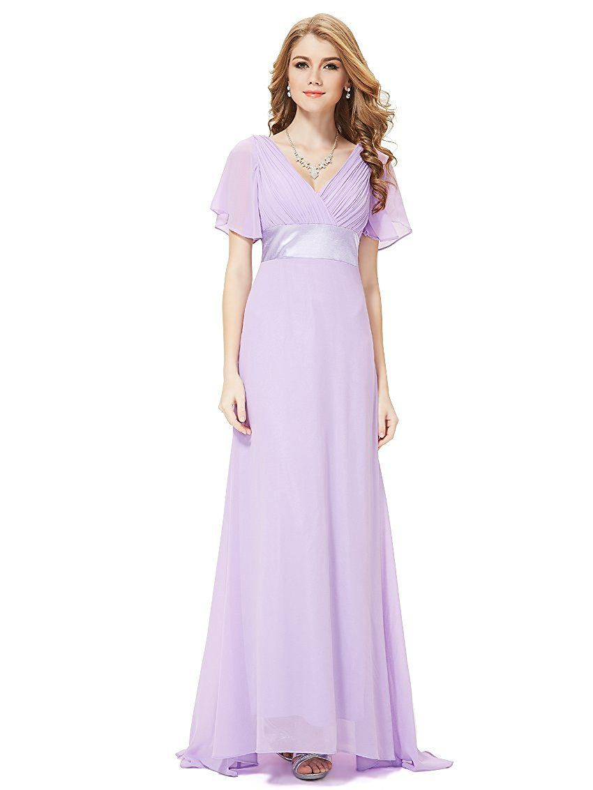 88ed1f3466388 Ever Pretty Women's Short Sleeve V-Neck Long Evening Dress 09890 ...