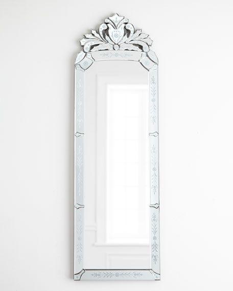 Venezia Dressing Mirror, Long Narrow Venetian Mirror