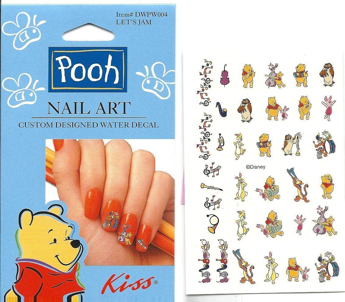 Disney Let\'s Jam Winnie the Pooh Kiss Licensed Nail Art ** This is ...