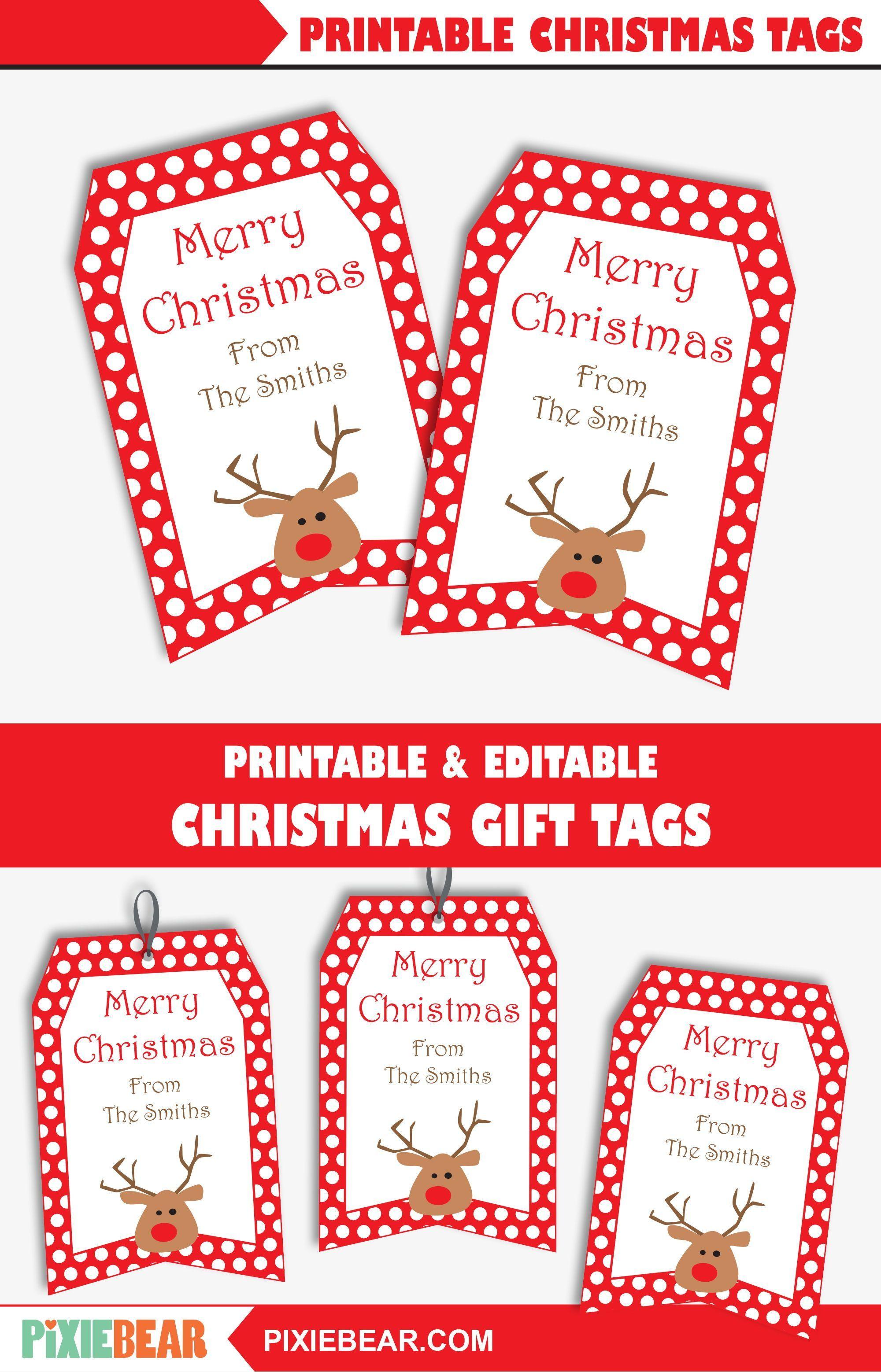 Printable Christmas Gift Tags For Kids Editable Christmas Etsy Christmas Tags Printable Personalized Christmas Labels Christmas Gift Tags Printable