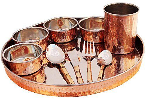Dinnerware Copper Stainless Steel Large Dinner Plate Thali (1) Street Art /  sc 1 st  Pinterest & Dinnerware Copper Stainless Steel Large Dinner Plate Thali (1 ...