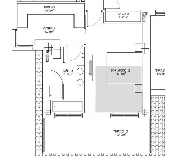 Resultado de imagen para medida estandar cuarto en suite for Medidas para sabanas matrimoniales