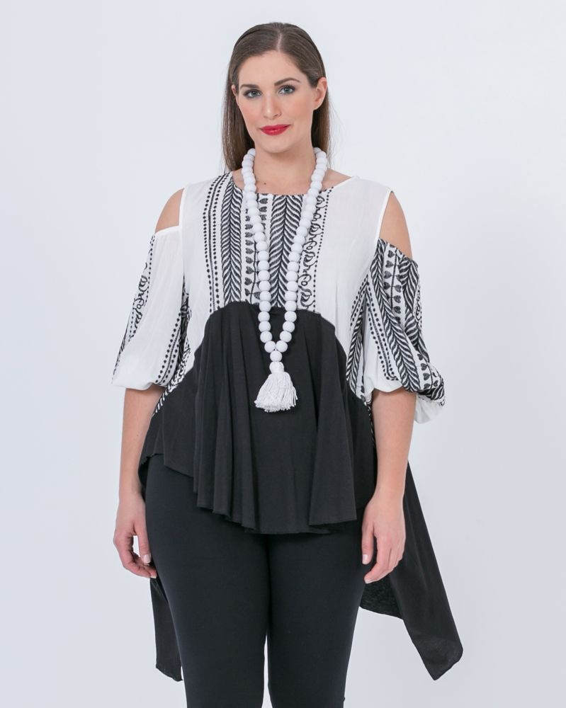 4554f78d0b36 Μπλούζα βισκόζη με κέντημα — mat. XXL sizes — Γυναικεία Ρούχα ...