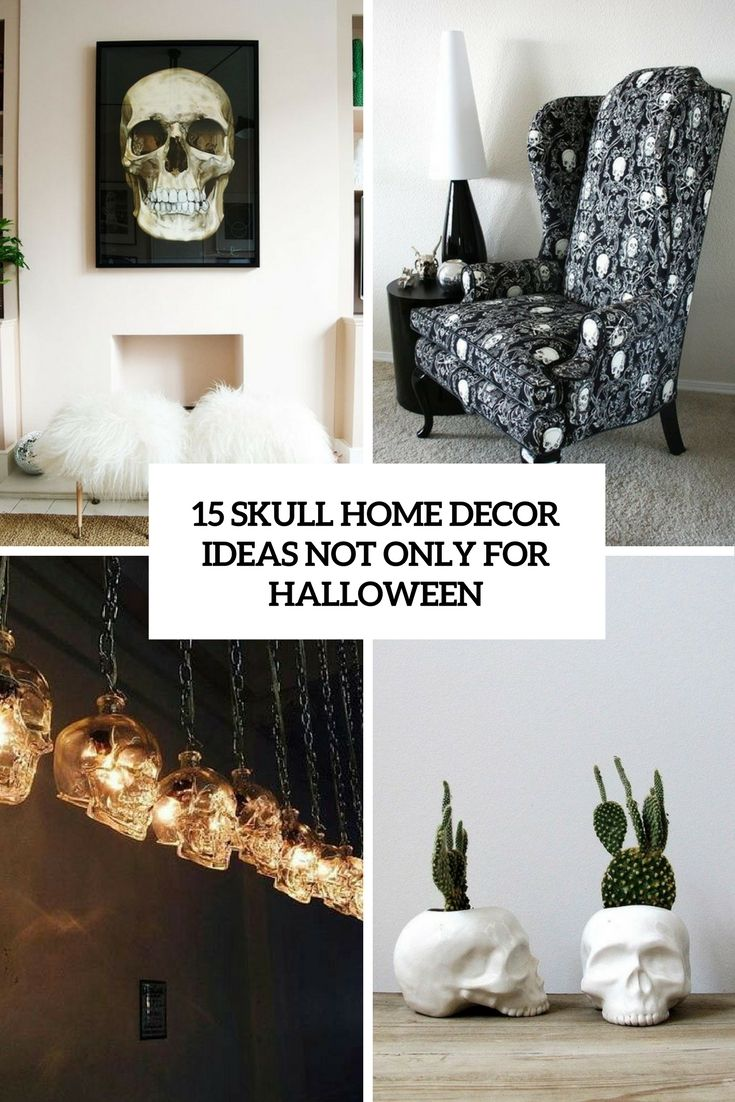 skull home decor ideas not only for halloween cover interior rh pinterest ca