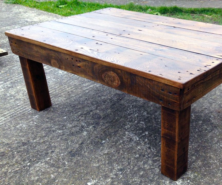 Making a coffee table from reclaimed pallet wood rustic for Reclaimed pallet wood projects
