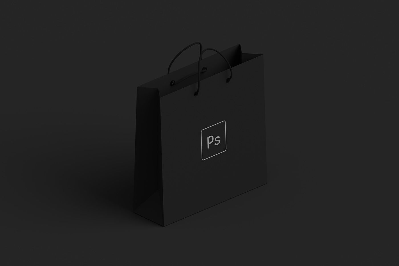 Download Black Paper Shopping Bag Mockup Bag Mockup Black Paper Free Mockup