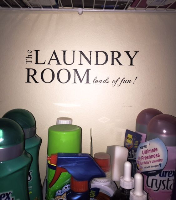 DIY Laundry Room Wall Decal Made with a Silhouette Machine