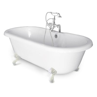 American Bath Factory Chelsea Double 60 X 32 Freestanding Soaking Bathtub Clawfoot Bathtub Soaking Bathtubs Tub