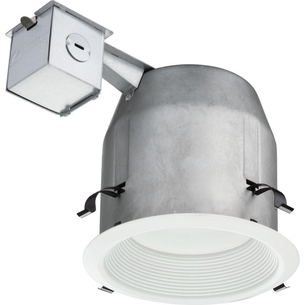 lithonia lighting 5 in recessed matte white led baffle kit lk5bpmw