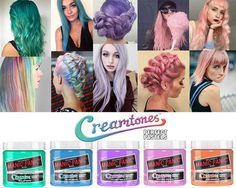 New Manic Panic Colours At Sallys Manicpanic Creamtones Pastels Vegan Sallybeauty Leanna Marino Sally Beauty Manic Panic Hair Color Hair Color Manic Panic Velvet Violet