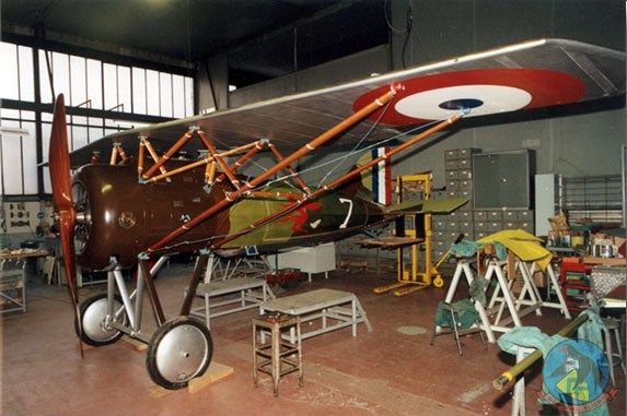 "Morane AI type XXIX n° 1567 undergoing restoration. French WWI ""parasol"" design fighter."