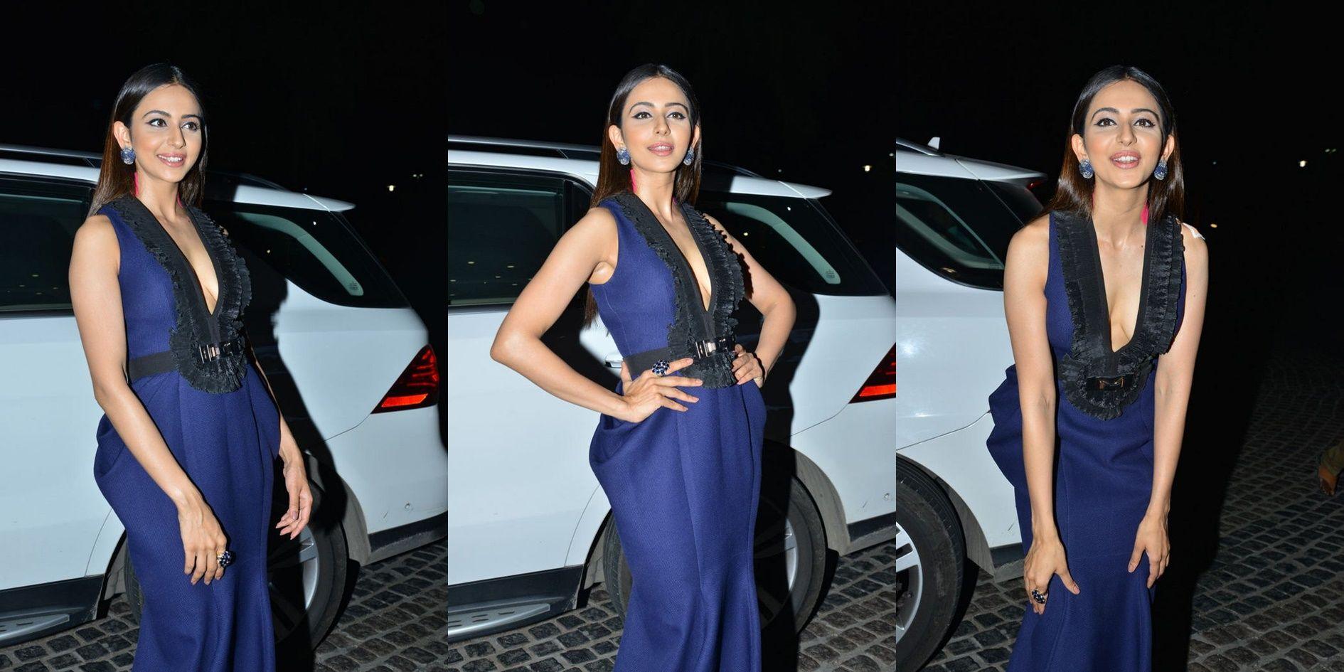 Actress Rakul Preet Singh Blue Dress Photos at 65th Jio