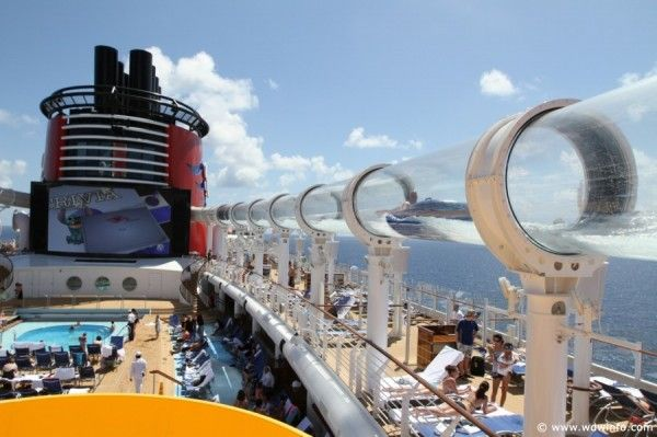 Oh Yea Fun On The Disney Cruise Tube Slide Places Id Like - Roller coaster on a cruise ship