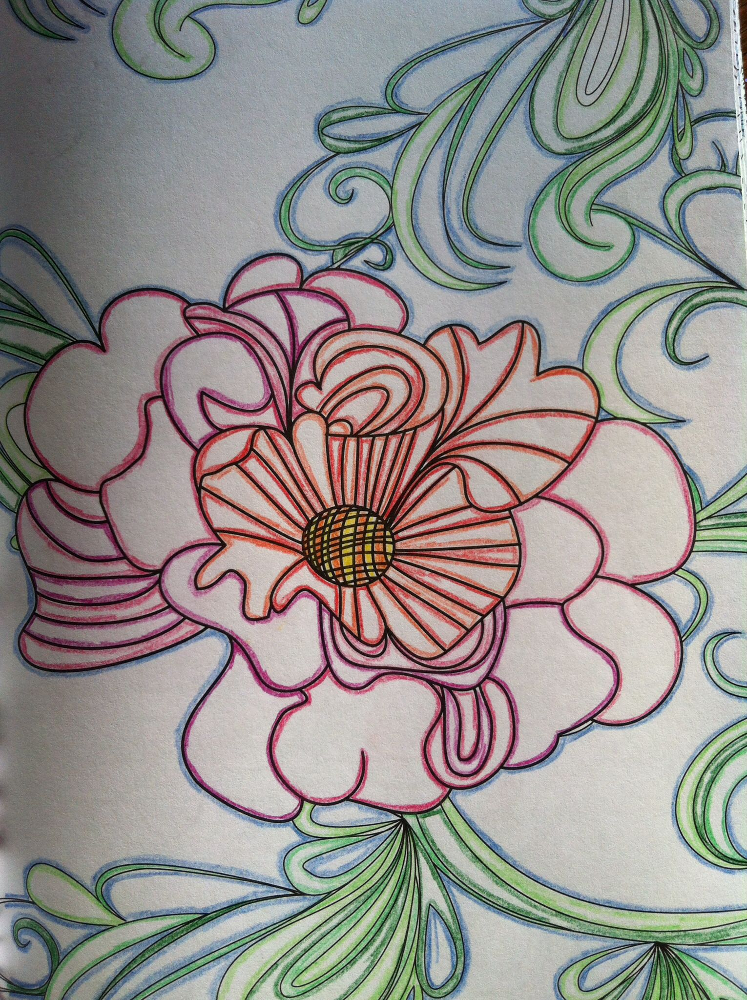 Kleuren Voor Volwassenen Een Gekleurd Streepje Langs De Lijntjes Grappig Effect Kleurboek Voor Volwassen Ingekleurd Kleuren Kleurenleer Kleurboek